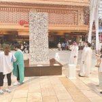 مجسمات تضم أسماء وصور شهداء الكويت في المجمعات التجارية